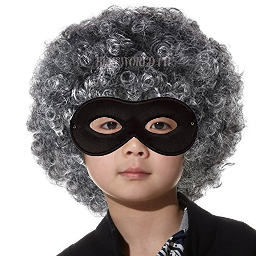 wocharm Jungen Mädchen Gangster Granny Perücke und Maske ideal für Schule Buch Woche und Kinder, die Granny Perücke Gangster Granny Perücke -
