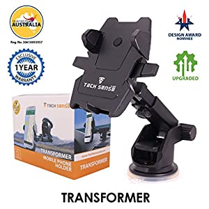 Tech Sense Lab (Australia) –Transformer Car Mobile Phone Holder/Mount, Universal Mobile Stand with one touch mounting…