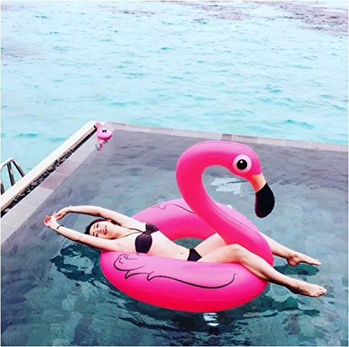 yookoon-pink-flamingo-pool-float-inflatable-summer-toy-pool-party-toy-with-rapid-valves