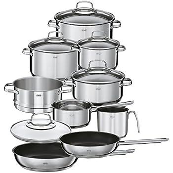 WMF Gourmet Plus 5-teilig Topf-Set, Edelstahl Rostfrei