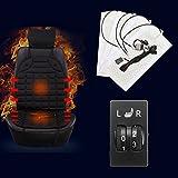 Sedeta® Auto-Sitzkissen Carbon-Faser-Heizkissen Einstellbare Temperatur Heizung Schutz Warmer mit Dual 5Levels Schalter für Fahrer Home Office