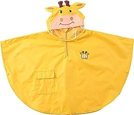 SK Studio Kinder Jungen Mädchen Faltbar Regenjacke Wasserdicht PVC Regenmantel mit Kapuze Regenponcho Regenbekleidung