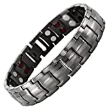 #10: Mens Double Strength Magnetic Elements Therapy Bracelet for Arthritis Pain Relief Adjustable By Willis Judd
