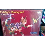 Frisky's Backyard - 900 Piece Cat-Shaped Puzzle by Spilsbury Puzzle Co.