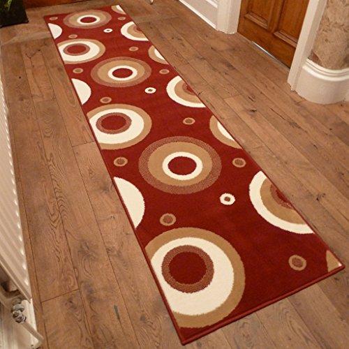 Circle Red - Long Hall & Stair Carpet Runner