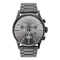 Nixon herenhorloge chronograaf kwarts met roestvrijstalen armband - A386632-00
