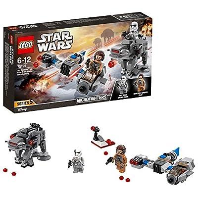 LEGO 75195 Star Wars Speeder vs First Order Walker Microfighters Building Set, Star Wars minifigures, Star Wars Toys for Kids