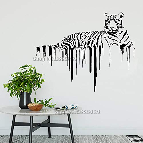 Neue Tier-one-designs (Ajcwhml Neues Angebot Tiger wandtattoo Tier wandkunst Design Kunst Dekoration Wand Wand abnehmbar 136cm x 110cm)