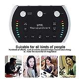 GODLIKE B5 Intelligentes Sprachsteuerungs-buntes Licht Voice Changer Live Sound Card Mikrofon Live-Soundkarten