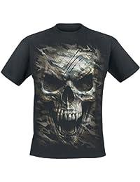 Spiral Camo-Skull T-shirt noir