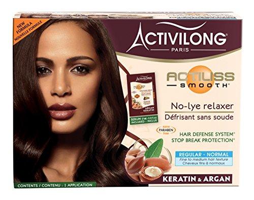 Activilong - Lisciante 'Actiliss', per capelli normali, senza carbonato di sodio, con argan e cheratina