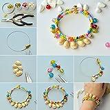 PandaHall 50 Stück Natürlichen Muschel Perlen Weiß für DIY Schmuck - 6