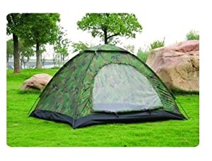 Unlike other tents this is not only light weighted but can be set-up in less than one minute! Just carry your tent along! The large front entrance is equipped with a 2-way zipper mesh closure and zippered storm flaps. A must have for all your outdoor...