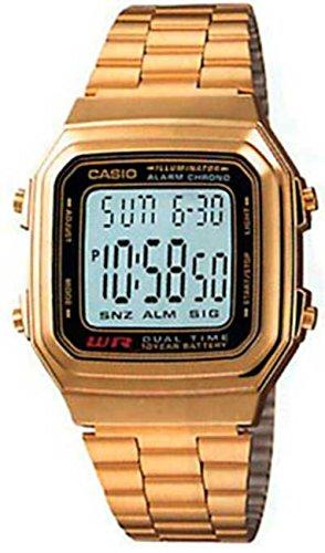 Casio Casio Herren a178wga-1a Gold Edelstahl Quarzuhr mit Digital Zifferblatt