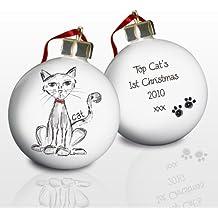 Personalizado CHINA Árbol de Navidad bola de Navidad regalo de recuerdo de gato