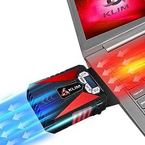 KLIM k292 Cool Refroidisseur PC Portable Gamer - Ventilateur Haute Performance Pour Refroidissement Rapide - Extracteur d'Air Chaud USB Rouge