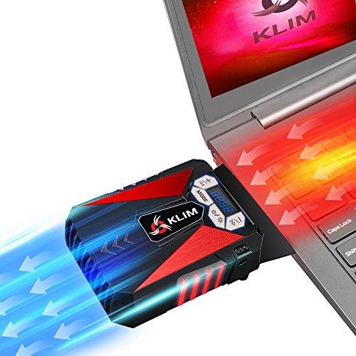 KLIM Cool Universaler Kühler für Spielekonsole Laptop PC – Hochleistungslüfter für schnelle Kühlung - USB Warmluft-Abzug (Rot)