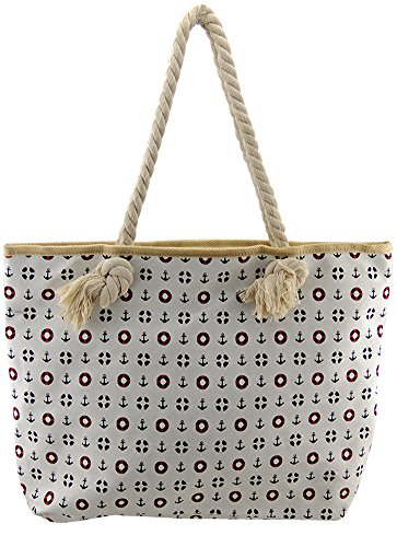 Fat Giraffe, Borsa tote donna bianco White Sailor White