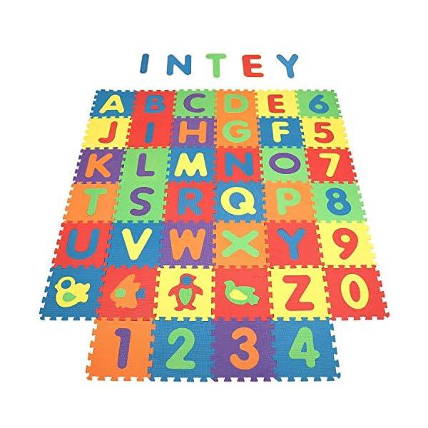 fc4d7eb8d9 INTEY Tappeto Puzzle Bambini - 40 Pezzi Tappetini per Neonati ...