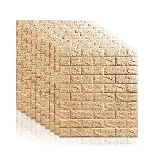 GLL-qianzhi 3D Backstein Tapete, Selbstklebende Wandtattoo Wandtafel, Peel & Stick Tapete Wohnzimmer Schlafzimmer Hintergrund Wanddekoration 70 X 77 cm (Color : D)