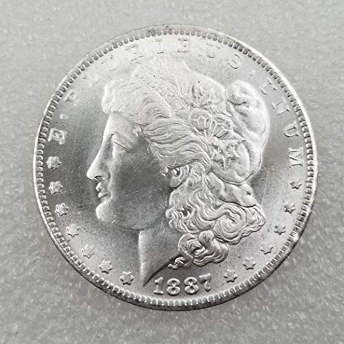 YunBest 1887 US Liberty Antike Morgan S Dollars - große amerikanische Münze - US Old Coins - USA Original Morgan Unzirulated Us Mint BestShop