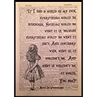 Parksmoonprints - Decorazione murale con testo di Alice nel Paese