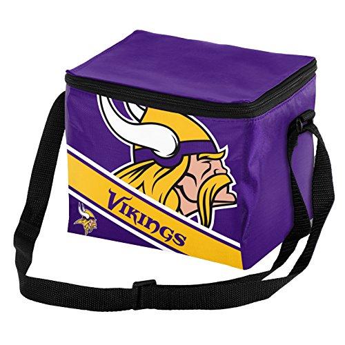 Forever Collectibles NFL Unisex Big Logo gestreift 12Stück Kühler, Unisex, Minnesota Vikings Big Logo Stripe 12 Pack Cooler, Minnesota Vikings, Einheitsgröße