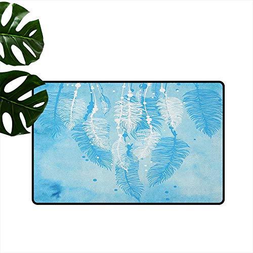 Anzhutwelve Deko-Fußmatte, Aquarellstil, mit Feder, hängend, Azteken-Motiv, 40,6 x 61 cm -