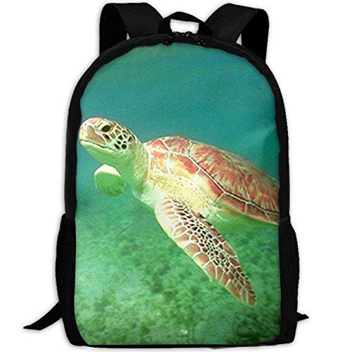 fsfsdafsaBags Turtle Green Sea Ocean Underwater Animal 3D Print Sac à DOS de Voyage College School Laptop Bag Daypack Travel Shoulder Bag for Unisex Ocean Green