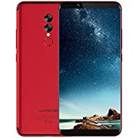 Moviles Libres Baratos, UMIDIGI S2 Lite, 6.0 pulgadas HD (pantalla completa 18: 9) 5100mAh, (Face Unlock,1.5GHz Octa Core ,4GB RAM + 64GB ROM, 16.0MP + 5.0MP Dual Rear Cameras Type-C) Smartphone 4G,Andriod 7.0-Rojo