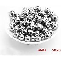 Zchui Bolas de cojinete de diámetro de Acero Inoxidable 50/200 Unidades 2 mm 3 mm 4 mm 5 mm 6 mm(4mm50 unids)