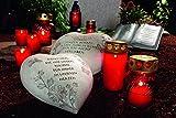Grabkerzen, 4-er Pack, ca. 18 cm, rot Grabdeko Friedhofskerze Kerze