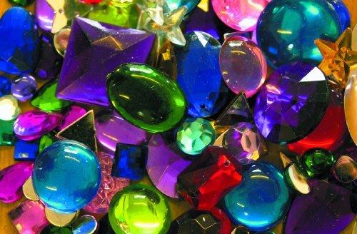 54g Beutel von verschiedene Farben und Größen Kunststoff flacher Unterseite glänzend Jewels–Ideal für Kostüm (Das Handwerk Kostüm)