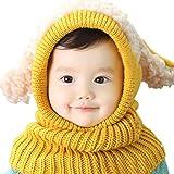 Yalatan Baby Mädchen Jungen Winter Mütze Schal Woolen Earflap Hood