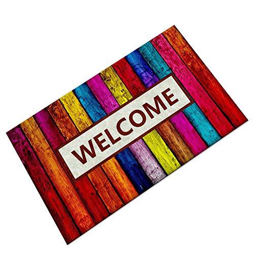 LLQ fuera Felpudo al aire libre puerta delantera Welcome alfombra anti