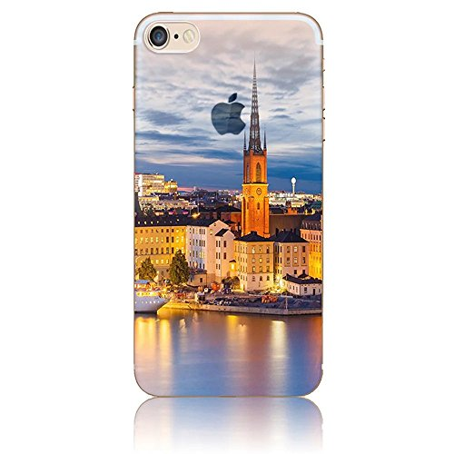 iPhone 7 TPU Silicone Coque,iPhone 8 Souple Case Cover Housse,Vandot Paysage Creative Painting Peinture Housse de téléphone pour iPhone 7 / iPhone 8 4.7 Pouces Silicone modèle Cas pour iPhone 7 TPU Do ABC-16