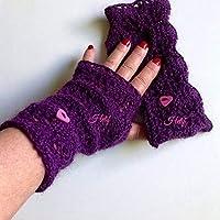 Mitaines pour Femme Mitaines tricot-Main en Alpaga violet Taille Unique  Made in France Idée 6dce29258fd