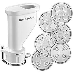 KitchenAid 5KSMPEXTA Kit emporte-pièces gourmet pour pâtes fraîches (avec 6 emporte-pièces), accessoire optionnel, pour tous les robots pâtissiers KitchenAid