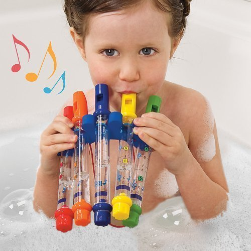 Water Flutes Whistles Music Sheets Musical Bath Time Toy Stocking Filler