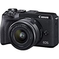 Canon EOS M6 Mark II 32.5MP + EF-M 15-45mm f/3.5-6.3 is STM with 16GB Memory Card and Carry Case (Black)