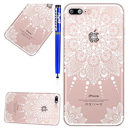 EUWLY Cover per iPhone 7 Plus/iPhone 8 Plus (5.5), EUWLY Case per iPhone 7 Plus/iPhone 8 Plus (5.5) Silicone Soft TPU Crystal Clear Custodia Cover Premium Trasparente Protettivo Custodia Case Modell Modello # 2