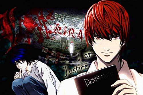 Death Note Anime Poster, Papier, 20x30 inches Death Note Stoff