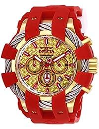 bfda1ca2d8ae Invicta 26011 Marvel Reloj para Hombre acero inoxidable quarzo Esfera oro