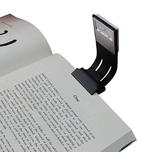 Clip Luz de lectura rígida con 4niveles de brillo. Luz LED multifuncional como marcador y lámpara para lectura en la cama o escritorio. Con carcasa blanda y dura para libros, revistas, libros electrónicos, etc. De Areson.