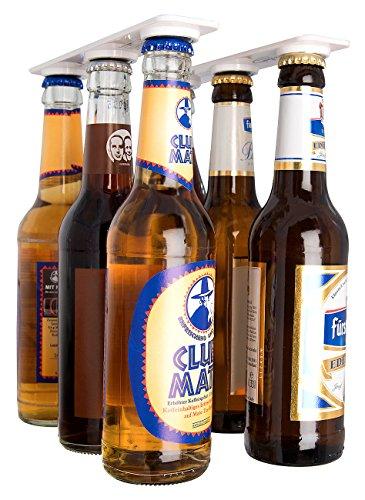 infactory Flaschenhalter: Magnetischer Flaschen- und Konservenhalter, 2er-Set (Bierhalter)