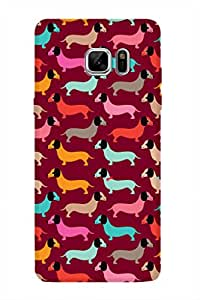 ZAPCASE PRINTED BACK COVER FOR SAMSUNG GALAXY NOTE 7 Multicolor