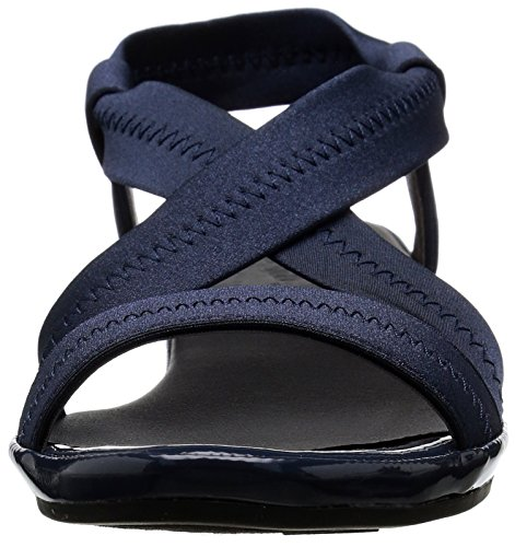Life Stride Debutante Damen Breit Stoff Keilabsätze Sandale Navy