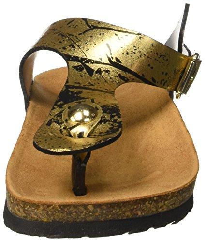 CHIARA BELLINI C41038.0001, Tongs femme Oro (Nero/Oro)