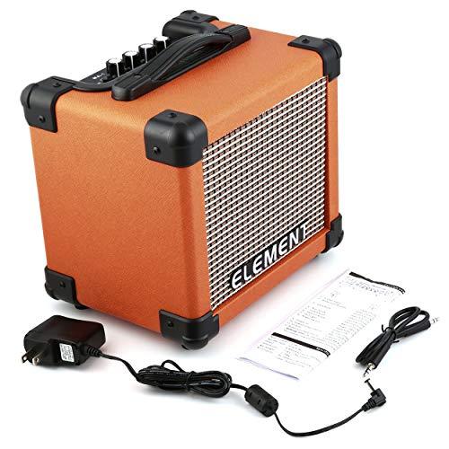 Mini Tragbarer Verstärker Verstärker Gitarrenverstärker Dist und Clean Effect Unterstützung Aux Input Bass Höhen Einstellung Orange