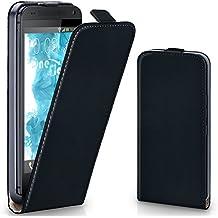 Bolso OneFlow para funda HTC One Max Cubierta con imán   Estuche Flip Case Funda móvil plegable   Bolso móvil protección móvil paragolpes funda protectora con cubierta en Nero